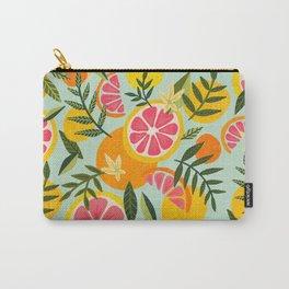 Grapefruit Blooms – Mint Palette Carry-All Pouch