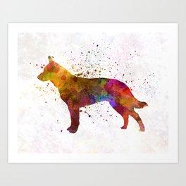 Australian Cattle Dog in watercolor Art Print