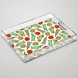 New York, New York Pattern Acrylic Tray