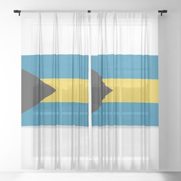 Flag of Bahamas. The slit in the paper with shadows. Sheer Curtain
