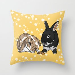 Eva and Alvis Throw Pillow