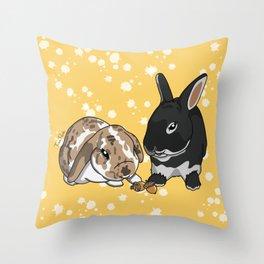 Eva and Alvis Throw Pillow
