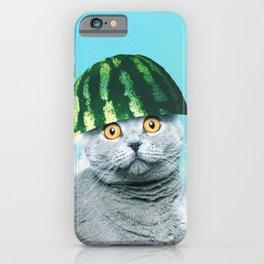 Cute Funny Watermelon Cat iPhone Case