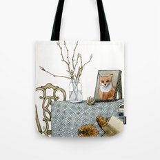 coffee and croissants Tote Bag