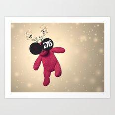 Little Pink Bear said :: Happy New Year 2015 :) '' Art Print