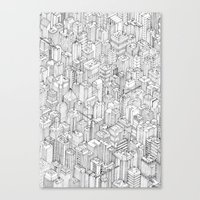 city Canvas Prints featuring Isometric Urbanism pt.1 by Herds of Birds