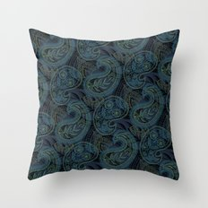 Paisley and Undines Throw Pillow