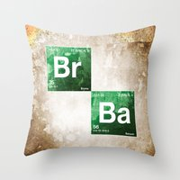 chemistry Throw Pillows featuring BrBa chemistry by Nxolab