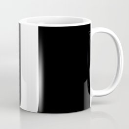 Letter J (White & Black) Coffee Mug
