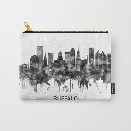 Buffalo New York Skyline BW Carry-All Pouch