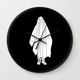 Ghosts 1 / Black Wall Clock