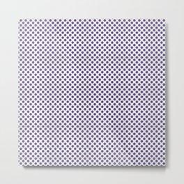 Prism Violet Polka Dots Metal Print