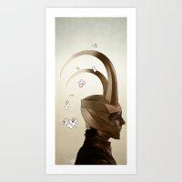 loki Art Prints featuring Loki by C. Tyler
