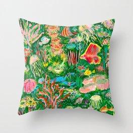 It's a sea green world Throw Pillow