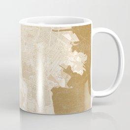 San Francisco Penninsula vintage map in sepia Coffee Mug
