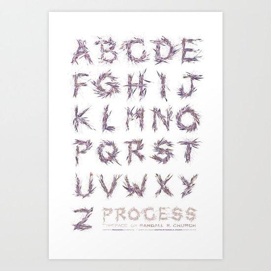 Process: Typeface Art Print