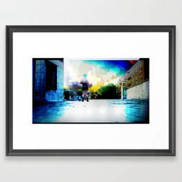 Queer on a rooftop Framed Art Print
