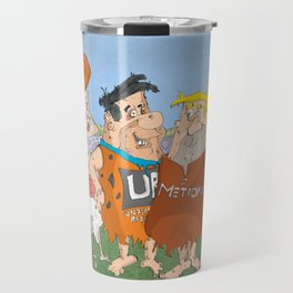 Bedrock About To Go Clubbing Travel Mug