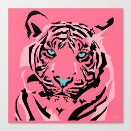 Pink Pop Tiger Canvas Print