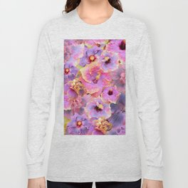 Tropical hibiscus patterns Flower Floral Flowers Long Sleeve T-shirt