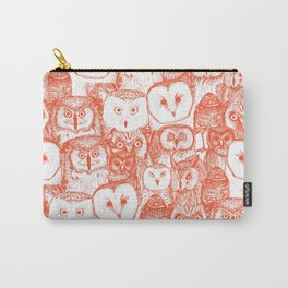just owls flame orange Carry-All Pouch