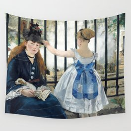 Edouard Manet - Le Chemin de fer (The Railroad) Wall Tapestry