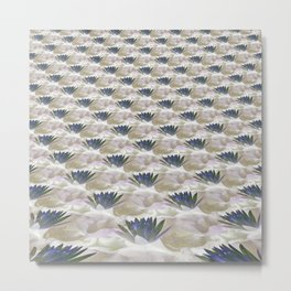 Lilies in the Clouds Fractal - IA Metal Print