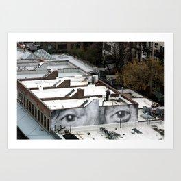 Eyes :: JR in New York City Art Print