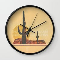 desert Wall Clocks featuring Desert by Drew Walker
