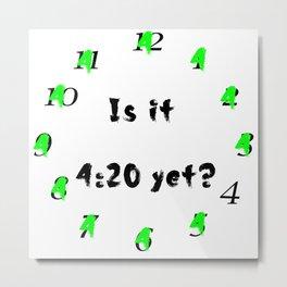 420 Clock Metal Print