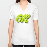 kim sy ok V-neck T-shirts featuring Ok by Roberlan Borges