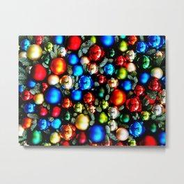 Christmas tree balls / back Metal Print