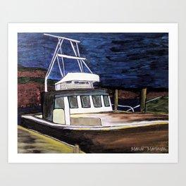 Newport Boat Art Print