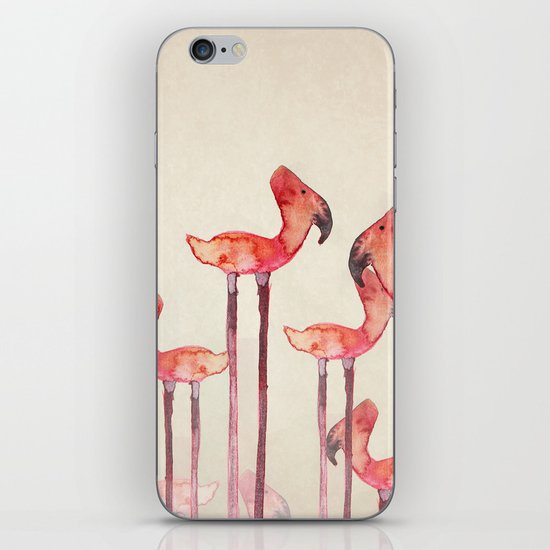 Transmogrified Flamingo Colony iPhone Skin