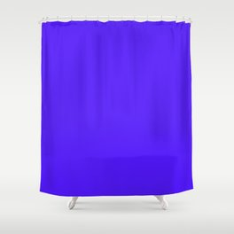 Han Purple - solid color Shower Curtain