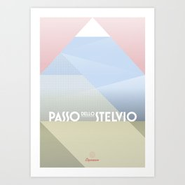 Passo dello Stelvio / Cycling Art Print