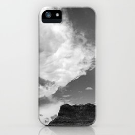 Incoming Storm Black and White iPhone Case