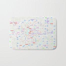 Beijing Map Bath Mat