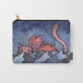 Dragon Cat Watercolor Carry-All Pouch