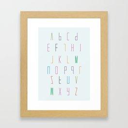 alphabet poster decor Framed Art Print