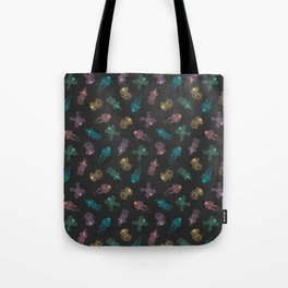 Cosmic Stranger Pattern in Neon Tote Bag
