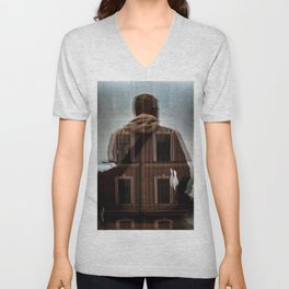 Loneliness in the network Unisex V-Neck
