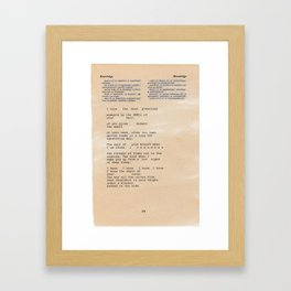 Knowledge Knowledge Framed Art Print