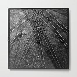 Deco Tracks Metal Print