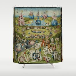 The Garden of Earthly Delights - Hieronymus Bosch Shower Curtain