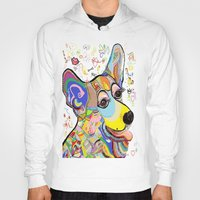 corgi Hoodies featuring Corgi by EloiseArt