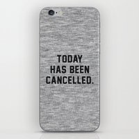 xbox iPhone & iPod Skins featuring Today has been Cancelled by Text Guy