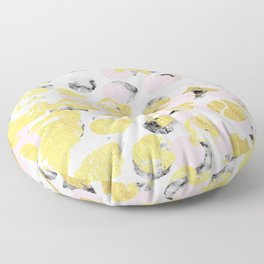 Stellan - Rose Marble Gold abstract art painting modern minimal love rosequartz pastel pink dorm Floor Pillow