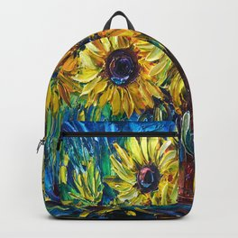 SUNFLOWERS — Palette knife Backpack
