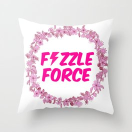 Fizzle Force Throw Pillow